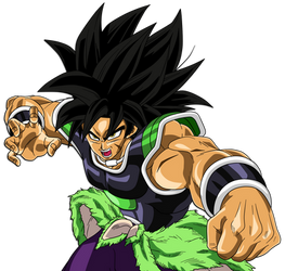 Broly Omega Blaster (Restrained Super Saiyan) by hirus4drawing