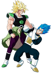 Broly Vs Vegeta by hirus4drawing
