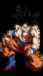 Goku (Ultra Instinct Omen Raises)