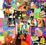 80s Happy Girly Tribute Collage