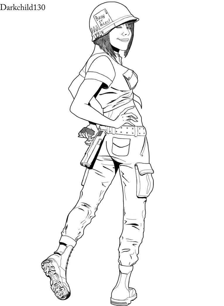Commission: soldier girl by darkchild130 on DeviantArt