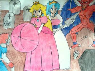 Princesses to the rescue! by takoyaky-kun