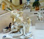 Among the Marble Statues - Le Louvre Museum, Paris