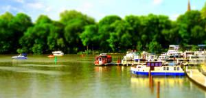 The Orange Houseboat --- Tiltshift Effect