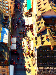 Miniature People on the Very Far Away Street by Cloudwhisperer67