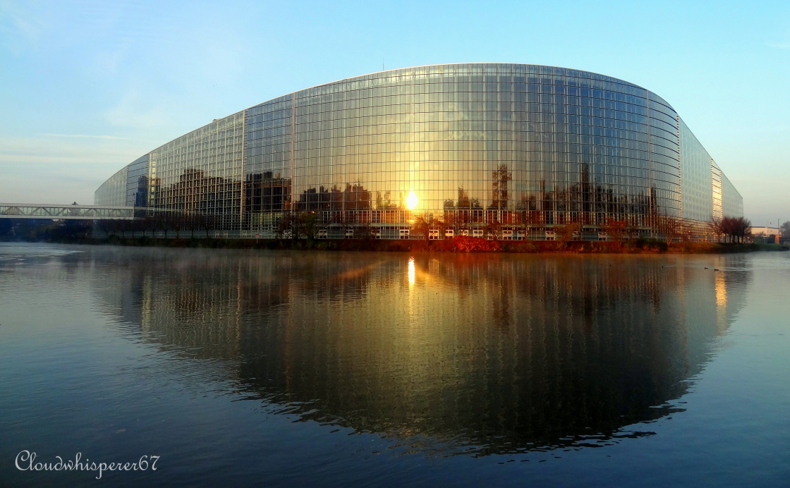 European Parliament by day - Strasbourg, France by Cloudwhisperer67