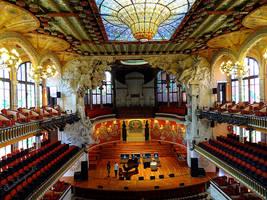 Palau de la Musica Catalana - Barcelona by Cloudwhisperer67