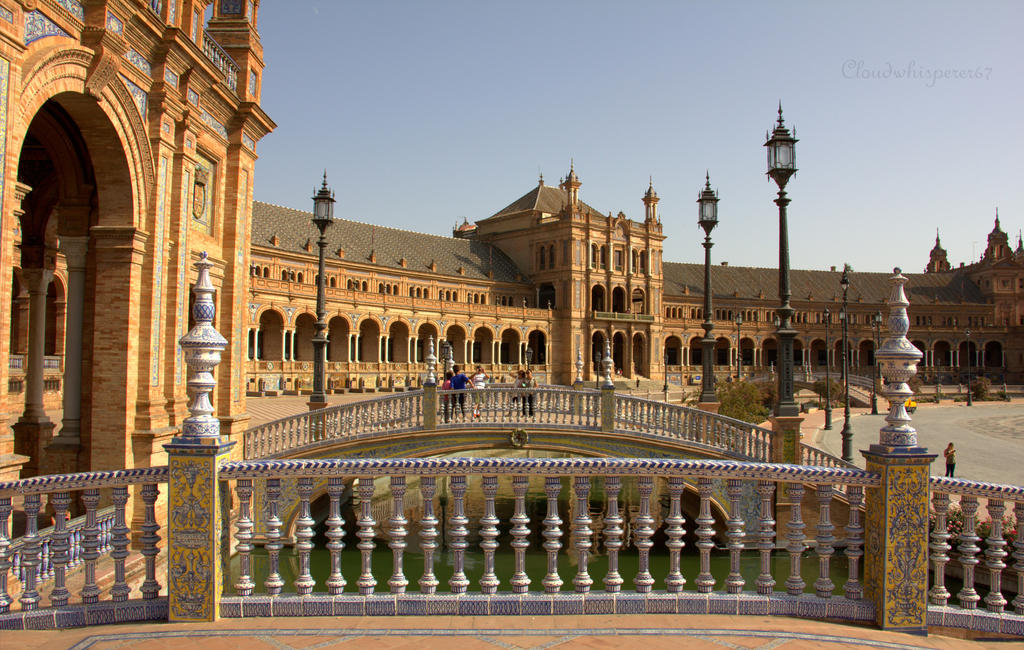 Plaza de Espana - Seville (Center view) by Cloudwhisperer67
