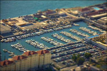 Toy Boats in Gibraltar Harbour (Tiltshift) by Cloudwhisperer67