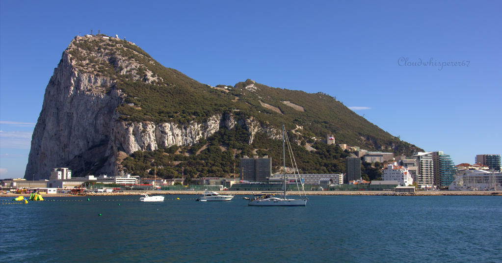 Rock of Gibraltar (north-west view) by Cloudwhisperer67
