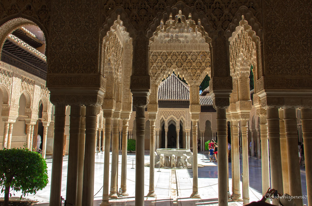 The Courtyard of the Lions - Alhambra, Granada by Cloudwhisperer67