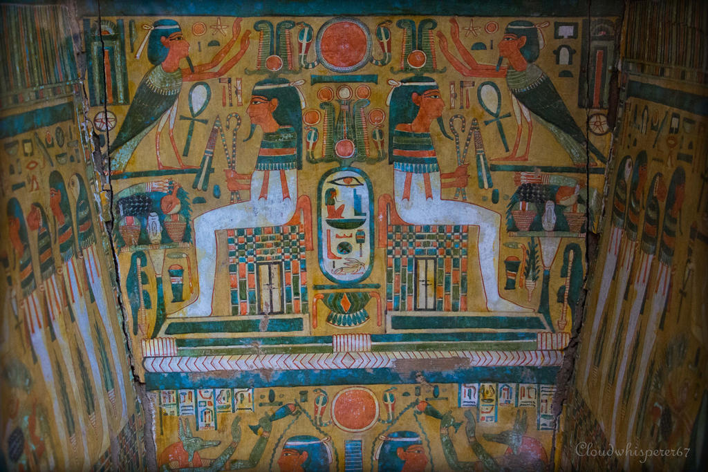 Inside a Mummy Sarcophagus - British Museum by Cloudwhisperer67