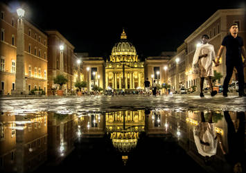 Saint Peter's Basilica by night - Vatican by Cloudwhisperer67