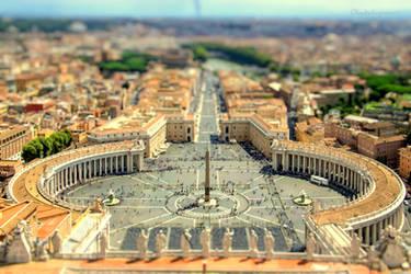 Saint Peter's Square - Vatican - Tiltshift by Cloudwhisperer67