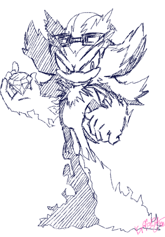 sonic mephiles coloring pages - photo#9