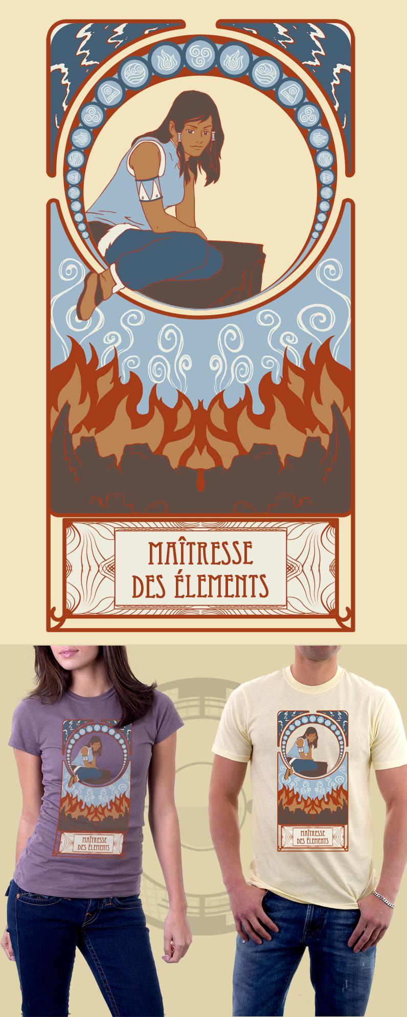 Korra T-shirt by CornyMistick