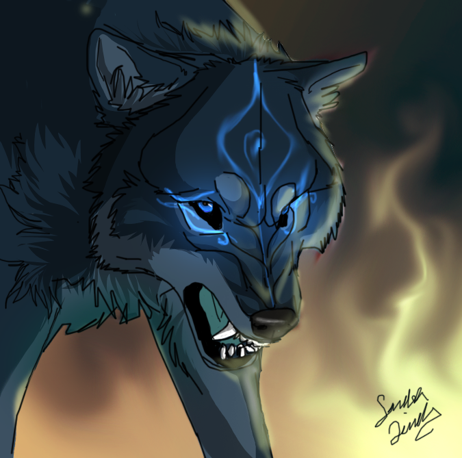 When the children sing, let a new world begin~ Me_and_fire_by_themysticwolf-d3burio