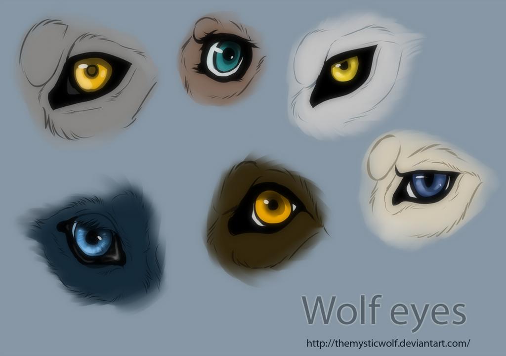 anime wolf eye drawing: Wolf Eyes By TheMysticWolf On DeviantArt