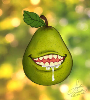 Nasty drooling Pear