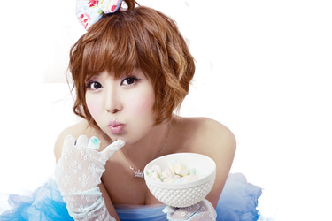 Raina (Orange Caramel) png [render] by Sellscarol