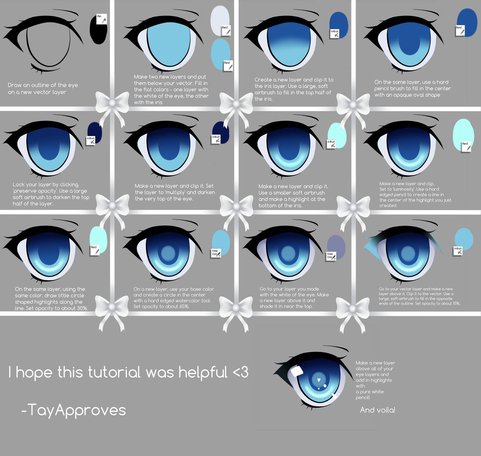 SAI Eye Tutorial by Iseanna