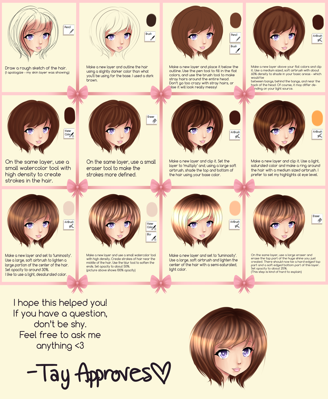 Sai Hair Tutorial By Iseanna On Deviantart