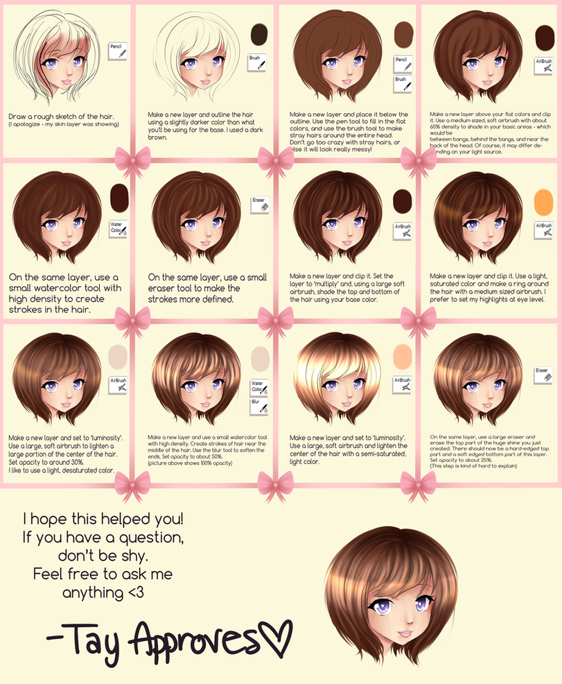 SAI Hair Tutorial by Iseanna