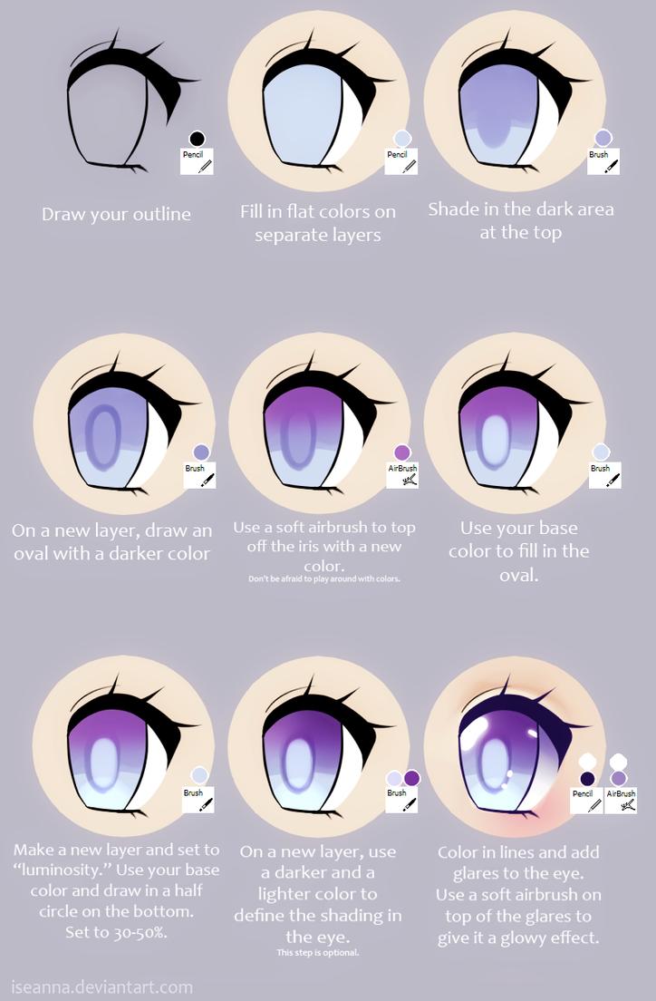 Anime Eye Tutorial by Iseanna on DeviantArt