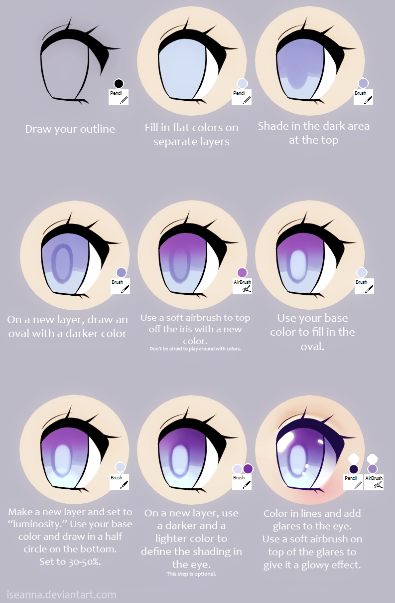 Paint tool sai resources on resource locker deviantart dayglitzrae 883 51 anime eye tutorial by iseanna ccuart Images