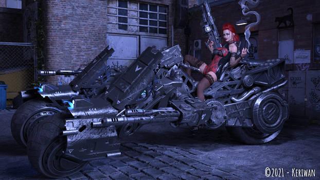 Redhead mercenary full scene