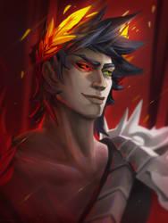 Zagreus portrait commission (SPEEDPAINT)