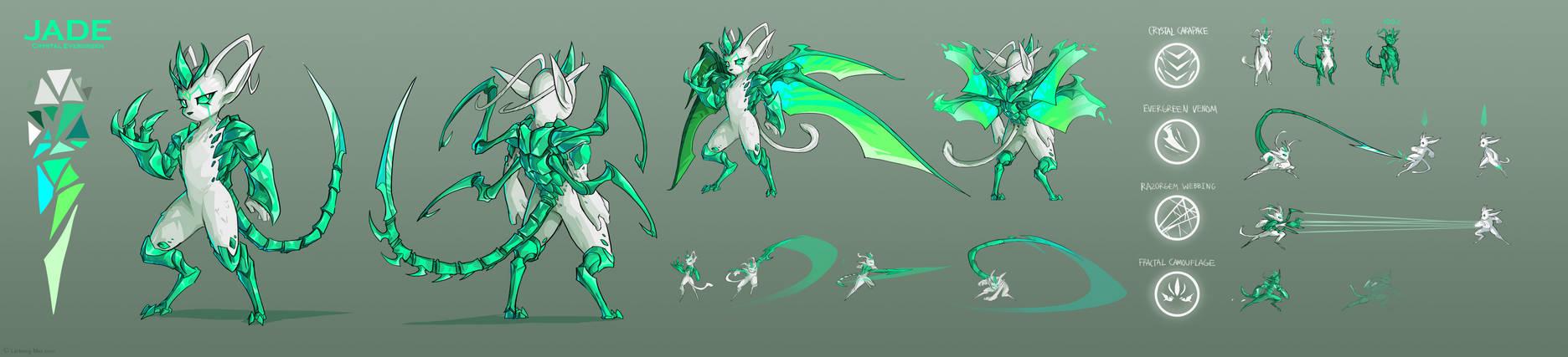 Jade, The Crystal Evergreen Ref Sheet