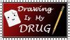 Drawing is my Drug Stamp by ARSugarPie