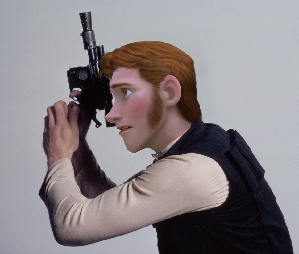Hans Solo with Blaster by ARSugarPie