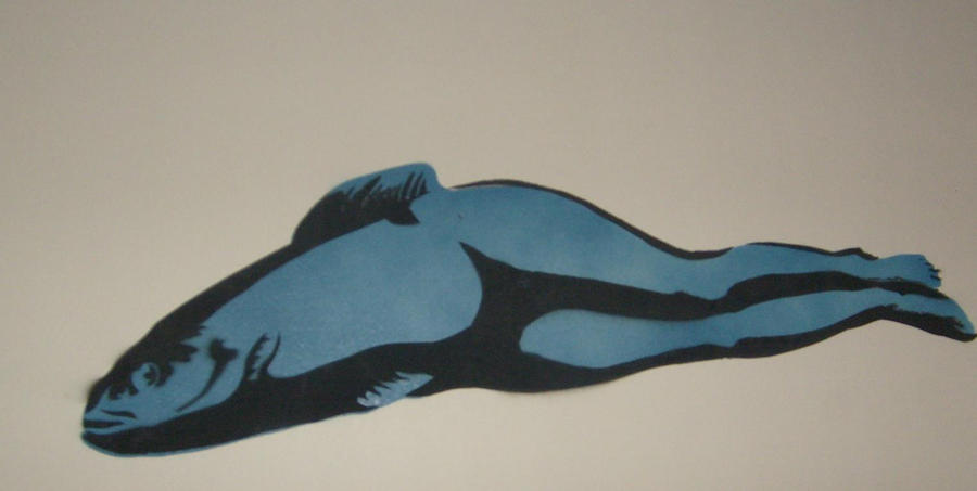 Reverse Mermaid stencil by danx64