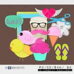 Cute Things Digital Scrapbook Elements (Freebie)