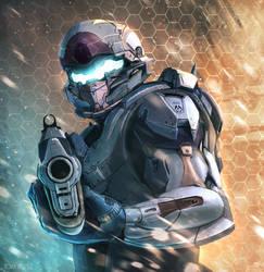 Locke - Halo by TomLopezArt