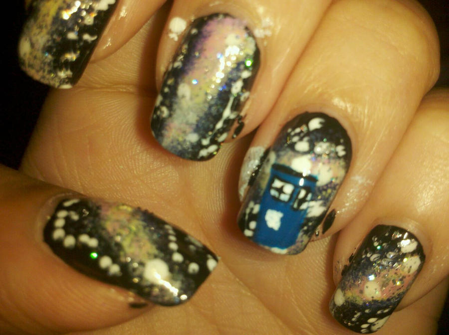 Doctor Who Nerdy Nails by DisNefarious on DeviantArt