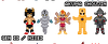 Kinnikuman Sprites by jennyrogue