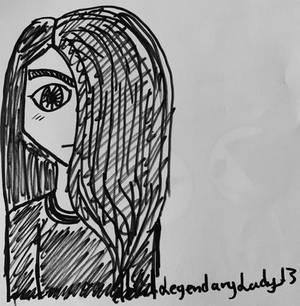 Raven-haired girl