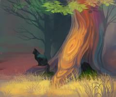 Black cat by Night-Owl-23