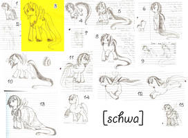 Schwa Sketch Dump by kavic