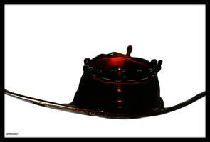 Black spoon by Sortvind