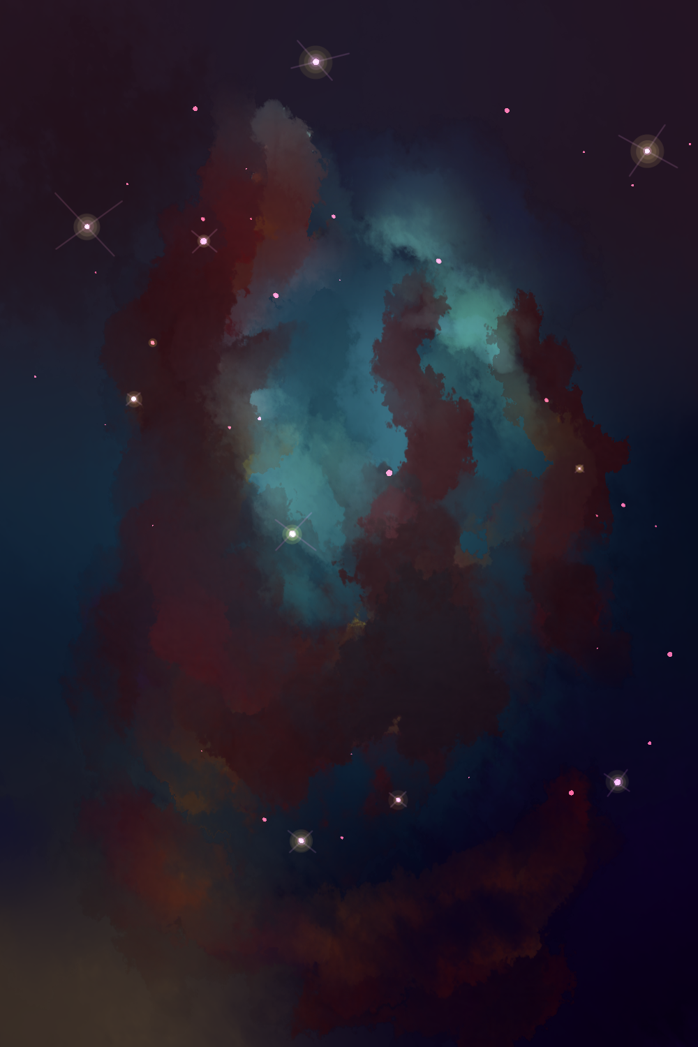 Pillars of Creation, Eagle Nebula by Penquincx on DeviantArt