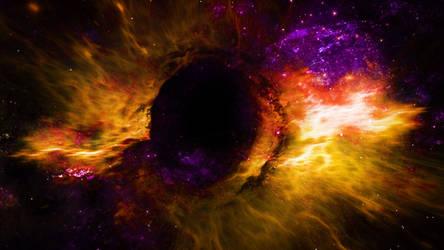 Black Hole In Space by Splat-Shot