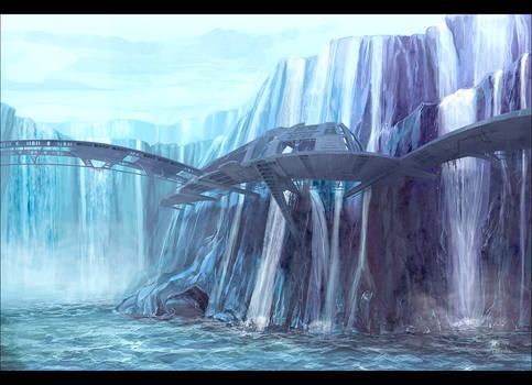 Waterfall base station