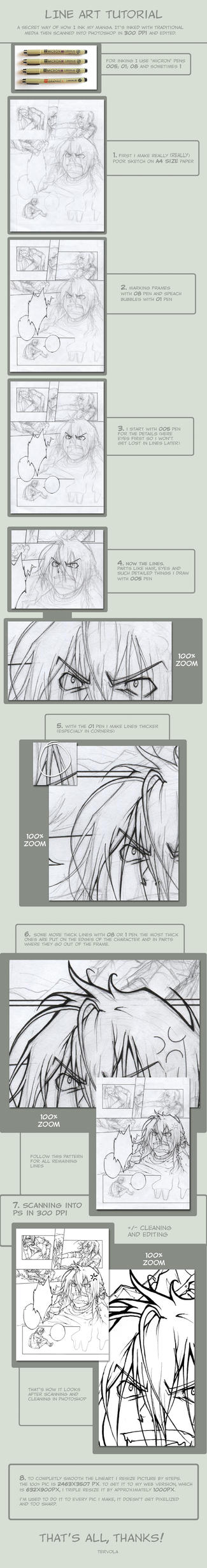 Line Art Tutorial Photo : Line art tutorial comic by tervola on deviantart