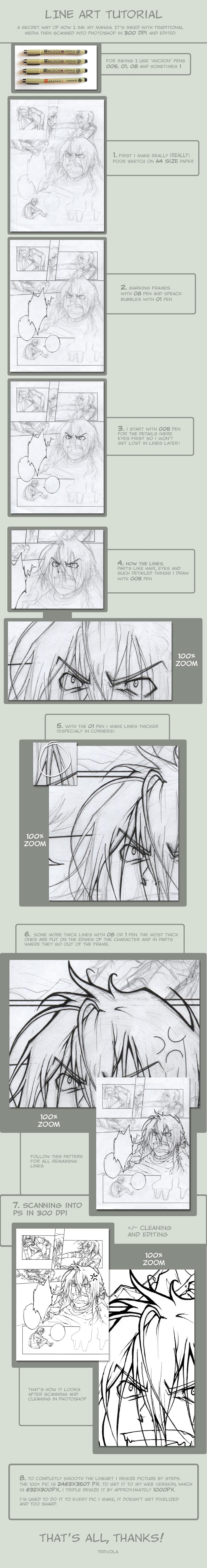 Line Art Photo Tutorial : Line art tutorial comic by tervola on deviantart
