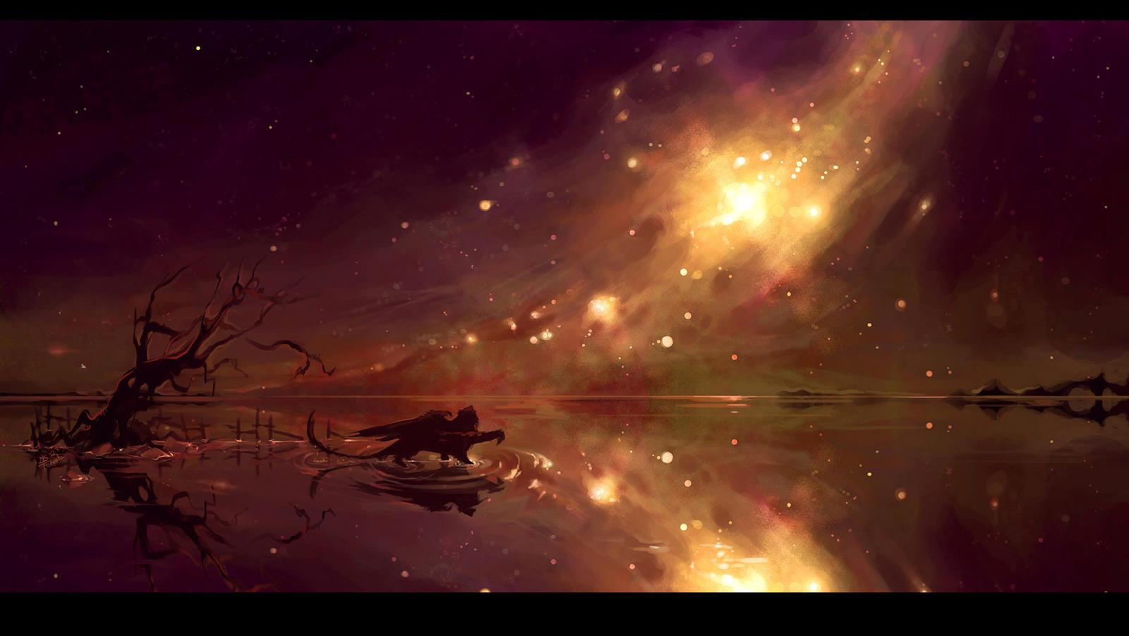 2 Skies - wallpaper by Tervola