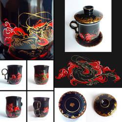 Dragon mug by Tervola